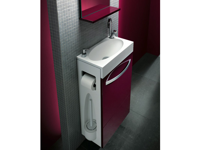 Id es d co relookez vos toilettes elle d coration - Wc lave main integre leroy merlin ...