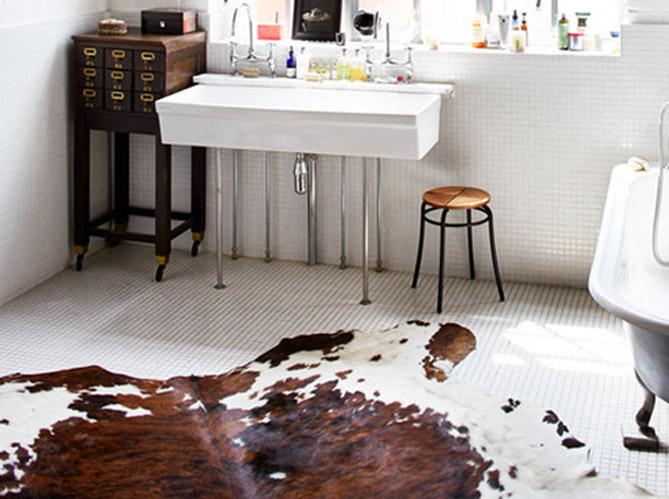 15 id es d co pour une jolie salle de bains elle d coration - Tapis salle de bain original ...