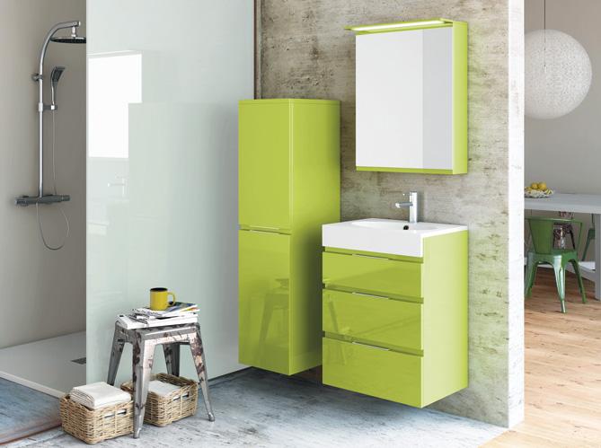 20 salles de bains color es elle d coration Meuble salle de bain vert