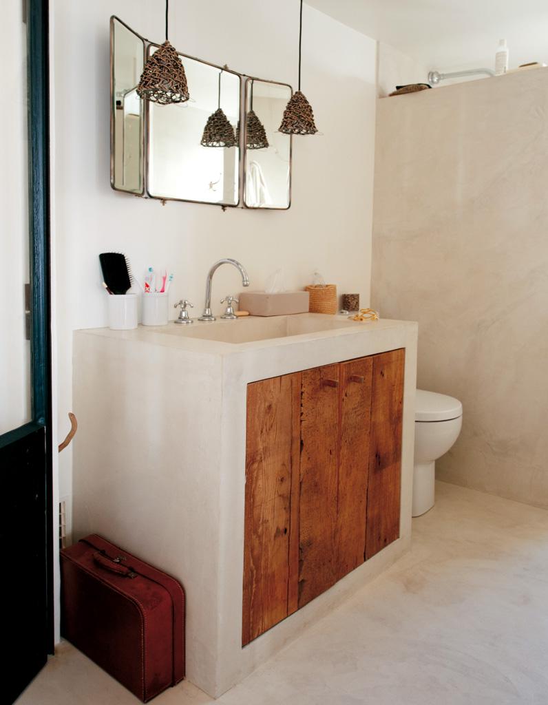 salle de bains : 15 sols qui font la différence - elle décoration - Enduit Cire Salle De Bain