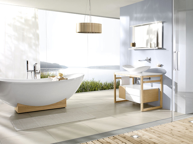 Salle de bains zen elle d coration for Elle deco salle de bain