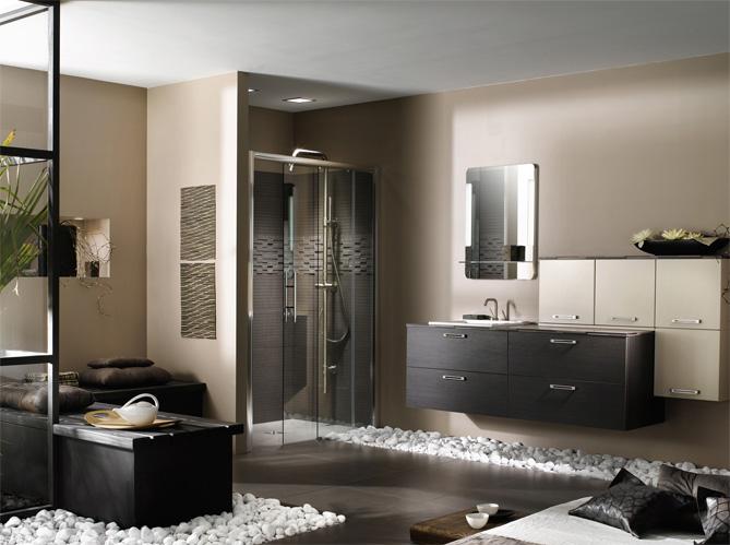 Salle de bains zen elle d coration for Banquette salle de bain