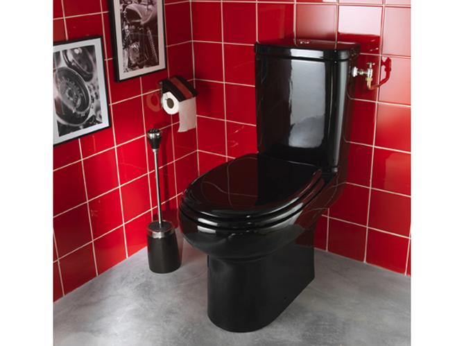 Wc am nager et d corer les toilettes elle d coration - Toilette noir suspendu ...