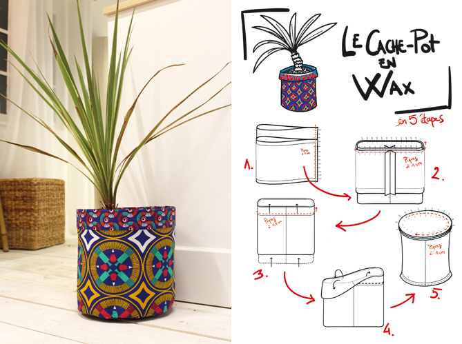 diy un cache pot en wax elle d coration. Black Bedroom Furniture Sets. Home Design Ideas