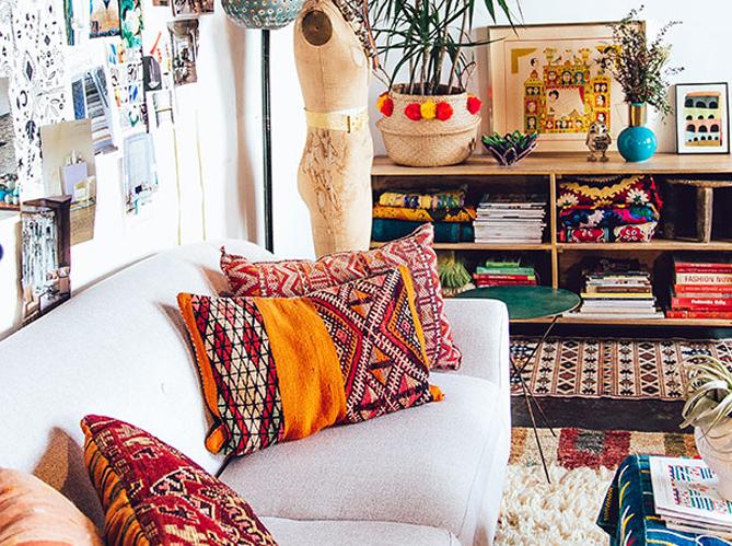 tendance qu 39 on aime le salon boh me elle d coration. Black Bedroom Furniture Sets. Home Design Ideas