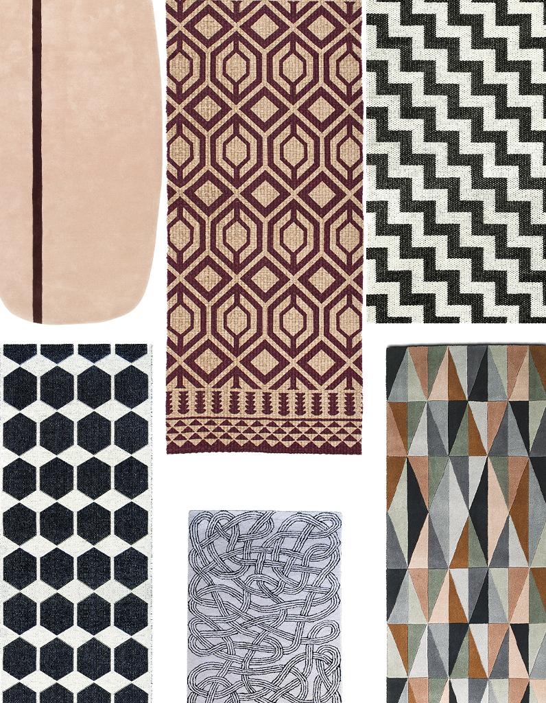 elegant tapis rays qui nous font craquer presse graphiques en noir et blanc with tapis graphique. Black Bedroom Furniture Sets. Home Design Ideas