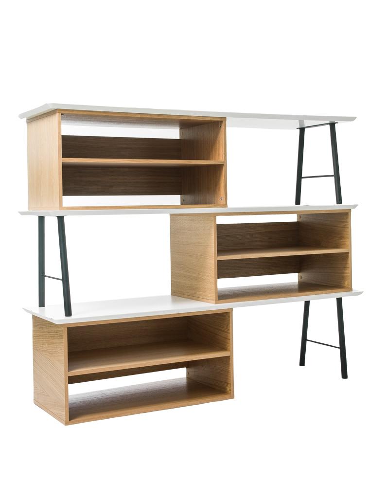Meuble bibliotheque original idees deco design de maison - Meuble pour piece mansardee ...