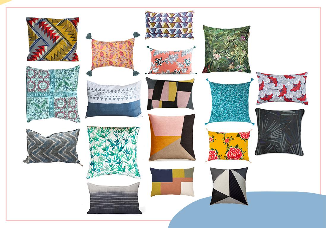 coussin d co quelle famille de coussins appartenez vous elle d coration. Black Bedroom Furniture Sets. Home Design Ideas