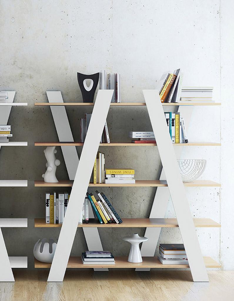 Biblioth ques belles et pratiques notre s lection pour for Objet deco salon moderne