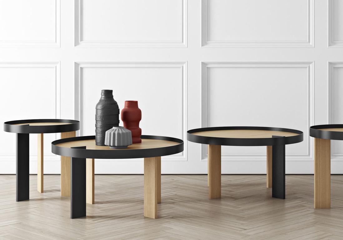 Une table basse en bois pour une touche chaleureuse au for Table bois bicolore
