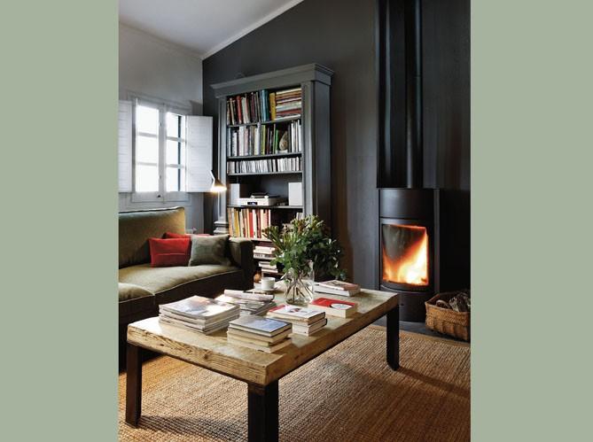 Un salon cosy  Elle Décoration -> Amenagement Poele Avec Tv