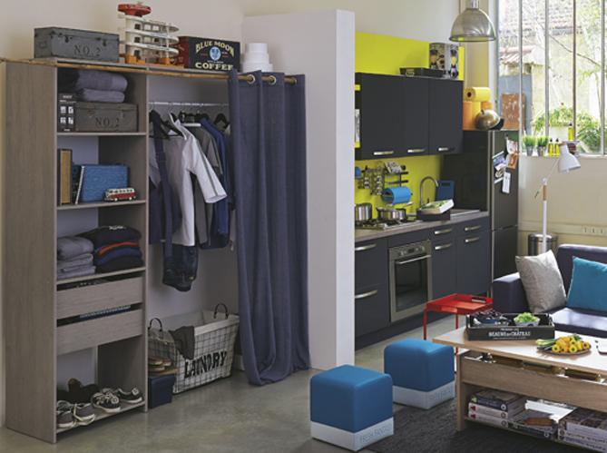 15 id es de dressings pour un petit appartement elle. Black Bedroom Furniture Sets. Home Design Ideas