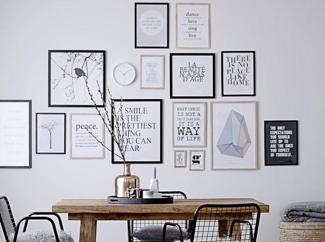 Cadre Mural Moderne Noir De Photos : D� co murale accumulez cadres et miroirs elle coration