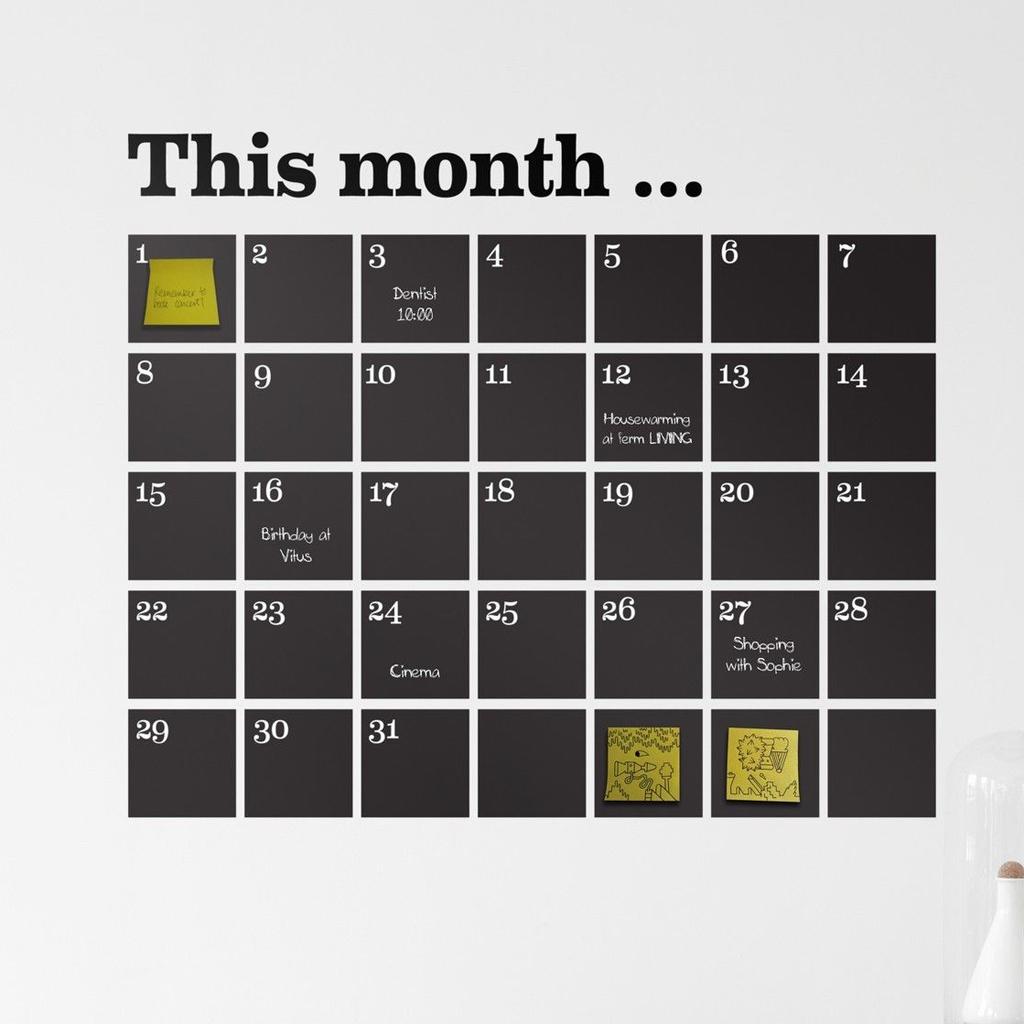 15 calendriers pour bien organiser 2015 elle d coration - Calendrier design ...