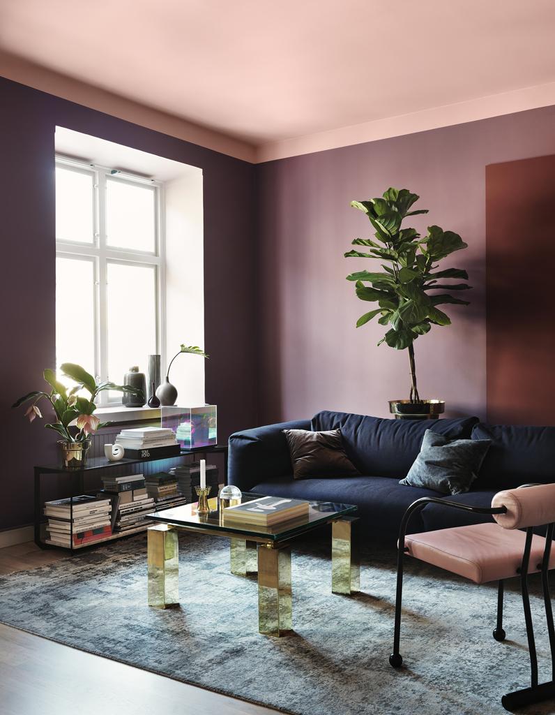 Un plafond en couleur pour r veiller une pi ce elle for De quelle couleur peindre son salon