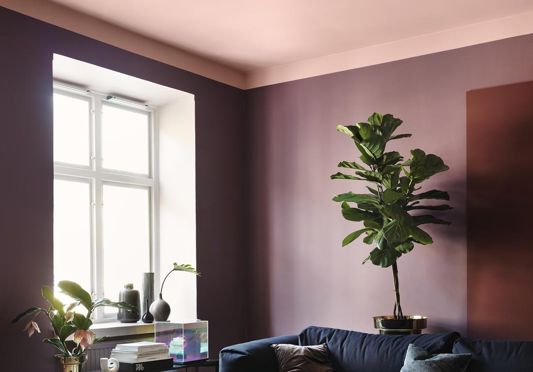 un plafond en couleur pour r veiller une pi ce elle d coration. Black Bedroom Furniture Sets. Home Design Ideas