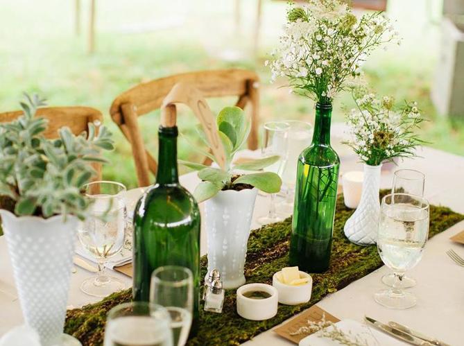 les bouteilles en verre relook es en objets d co elle. Black Bedroom Furniture Sets. Home Design Ideas