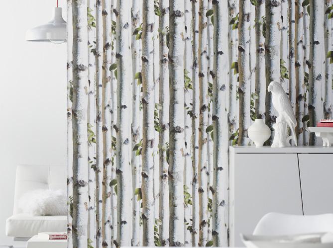 Les papiers peints trompe l il boostent nos murs elle - Papier peint imitation brique leroy merlin ...