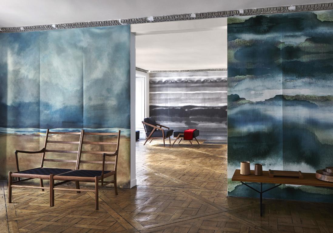 Papier peint panoramique les paysages investissent nos for Decoration murale 4 murs