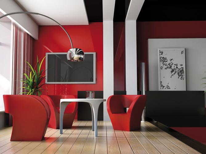 Peinture les couleurs tendance en 2013 elle d coration - Couleur design salon ...