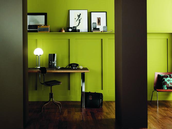 Quelles couleurs associer avec le vert elle d coration for Peinture chambre vert et marron