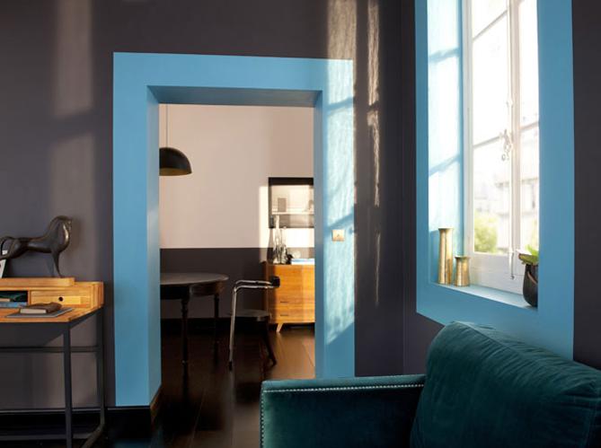 On change tout avec une touche de peinture elle d coration for Encadrement de porte interieur