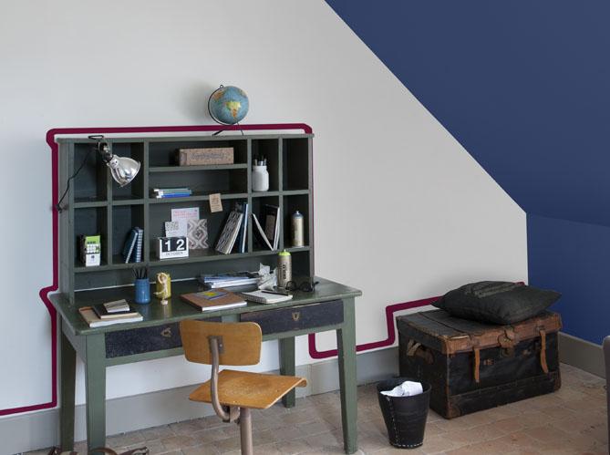 On change tout avec une touche de peinture elle d coration - Peindre un pan de mur ...