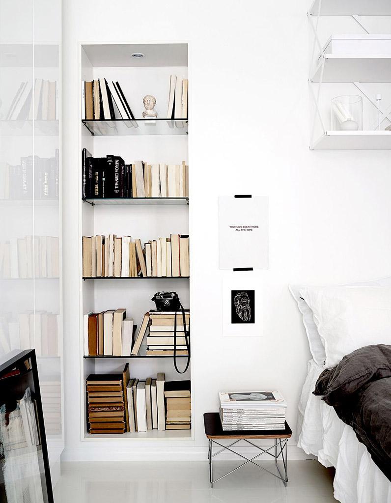 Nos id es pour une petite biblioth que pratique et d co for Minimalistic house escape 3