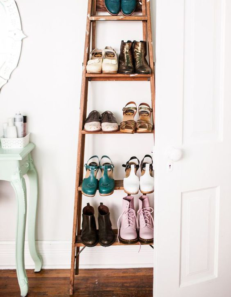 deco echelle bois fashion designs. Black Bedroom Furniture Sets. Home Design Ideas