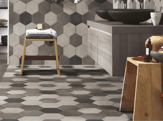 60 carrelages d co elle d coration for Carrelage hexagonal salle de bain