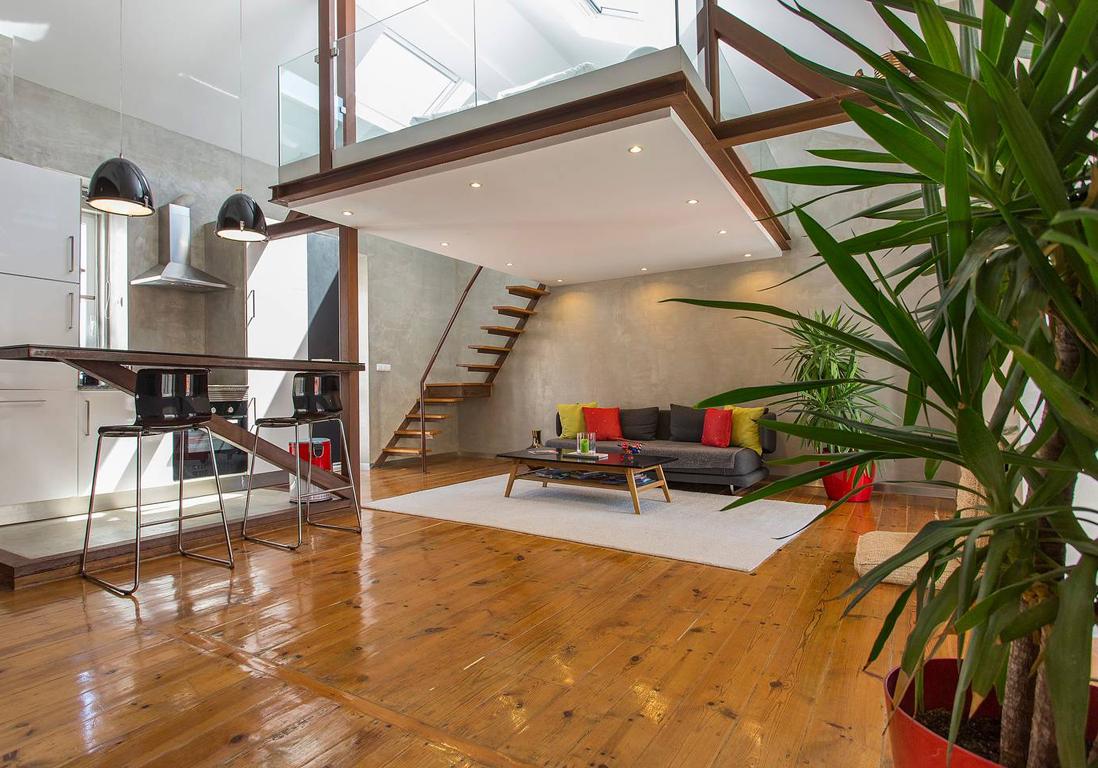 airbnb lisbonne 25 appartements lofts et penthouses de r ve lisbonne elle d coration. Black Bedroom Furniture Sets. Home Design Ideas