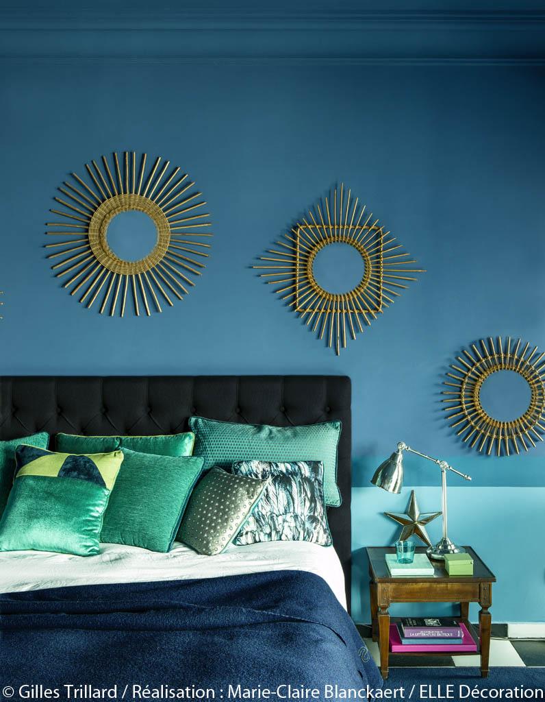 Peinture chambre gris et blanc - Bleu vintage peinture ...