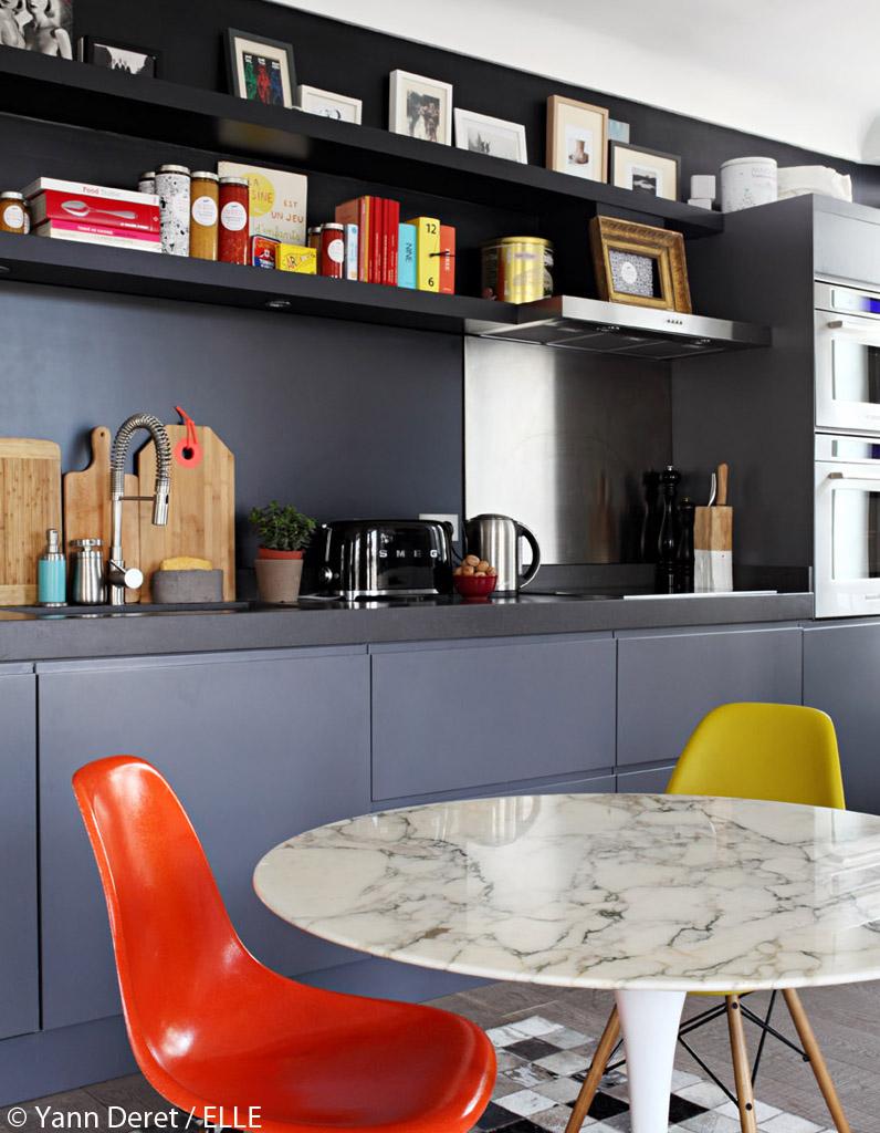 Photos d'un appartement parisien modernisé, entre vintage et ...