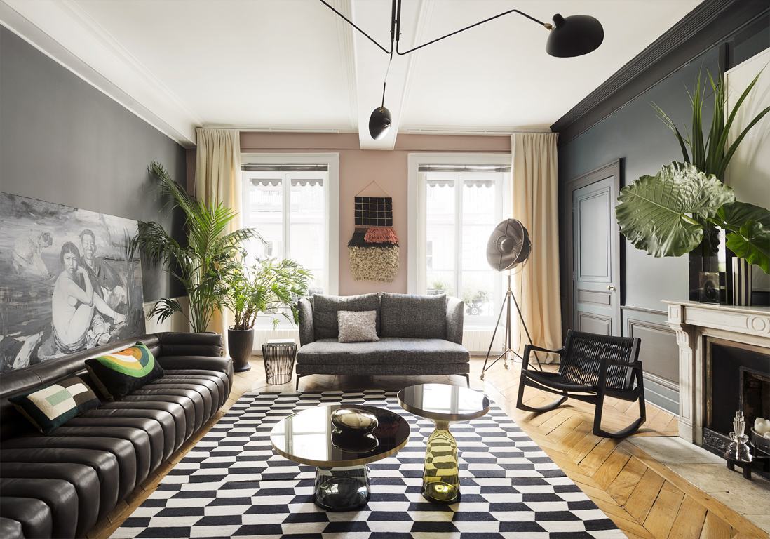 un appartement somptueux comme une galerie elle d coration. Black Bedroom Furniture Sets. Home Design Ideas
