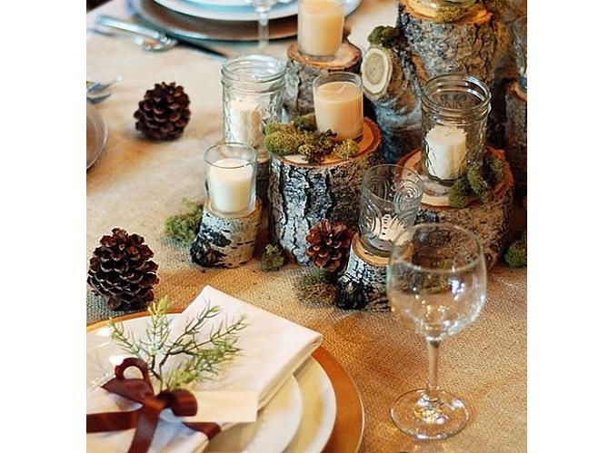 15 id es d co pour un joli centre de table de mariage for Table de campagne en bois