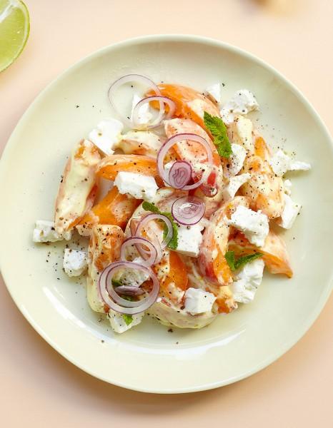 Recette minceur rapide salade abricots feta nos id es - Recettes de cuisine facile pour le soir ...
