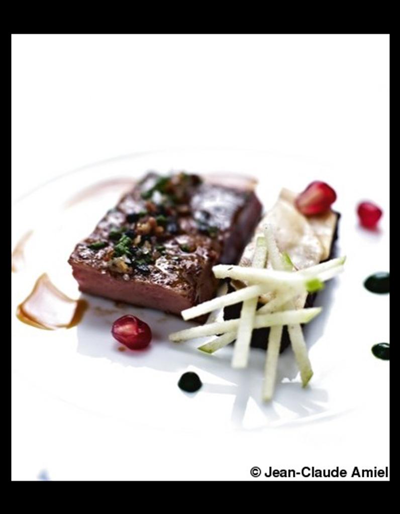 Foie de veau boudin de bretagne pomme verte au jus perl 50 recettes pour cuisiner les - Cuisiner le foie de veau ...