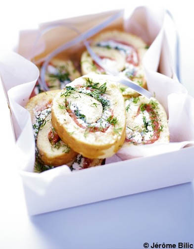 Canap s saumon aneth des id es recettes pour le for Canape saumon