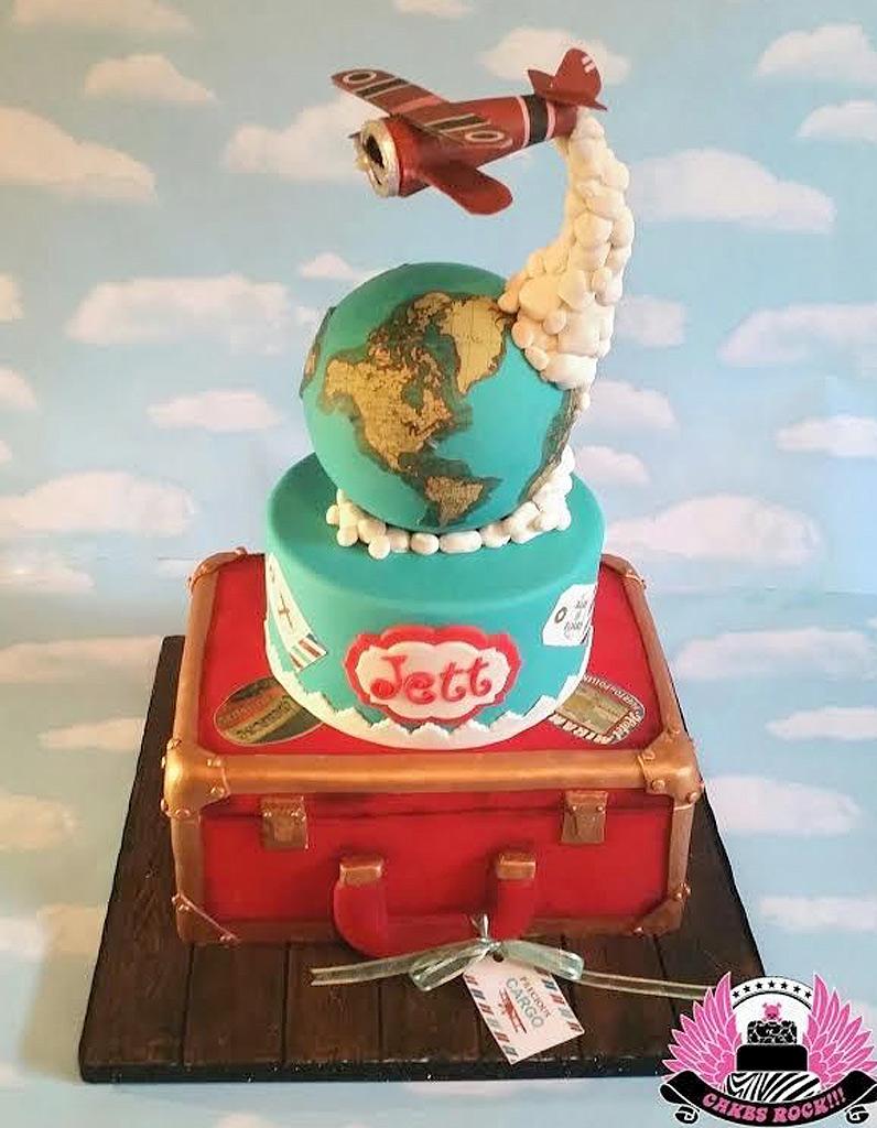 Gravity cake avion et globe terrestre 20 gravity cake - Gravity cake noel ...