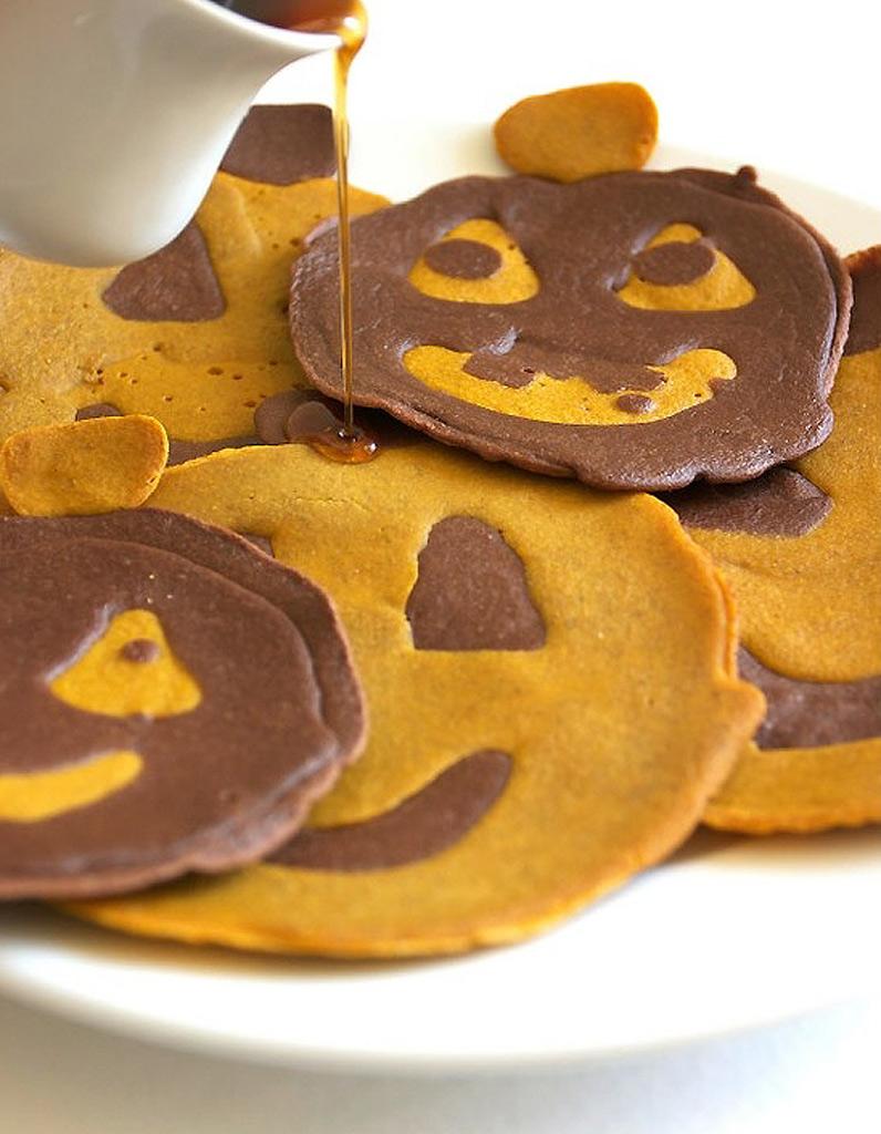 Halloween pancake halloween des recettes effrayantes et faciles rep r es sur pinterest - Recette gateau halloween facile ...