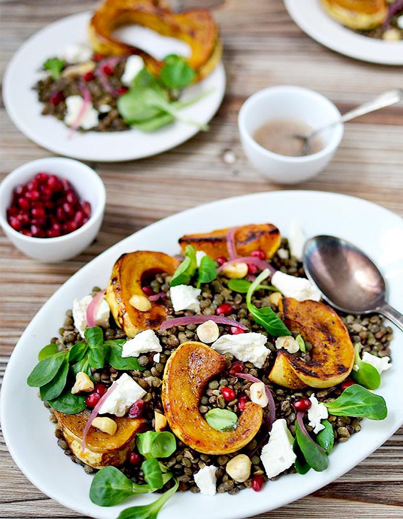 Salade d hiver aux lentilles des salades d hiver - Variete de salade d hiver ...