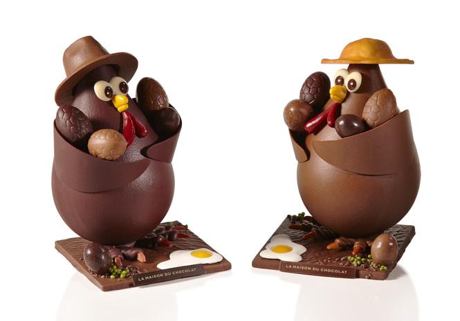 Coq et oeuf cocotte la maison du chocolat paques 2012 1 shopping de p ques 50 nouveaut s - Cuisson oeuf a la coq ...