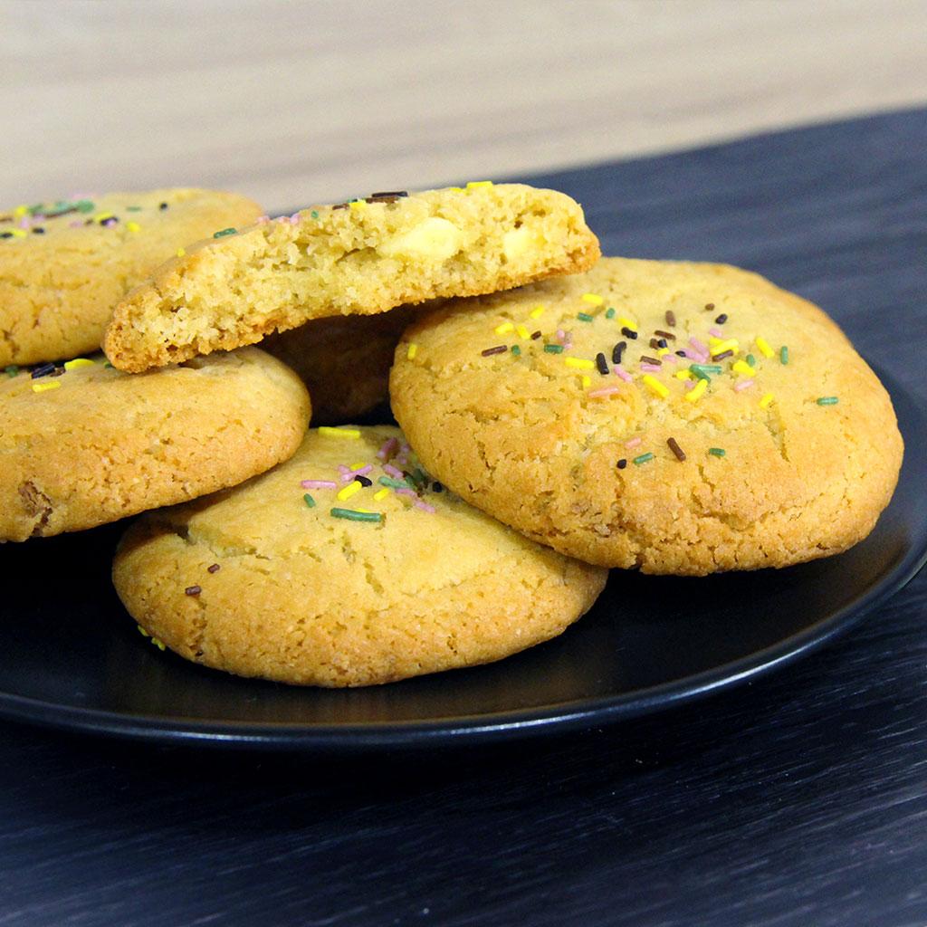 cookies au chocolat blanc la recette de la youtubeuse. Black Bedroom Furniture Sets. Home Design Ideas