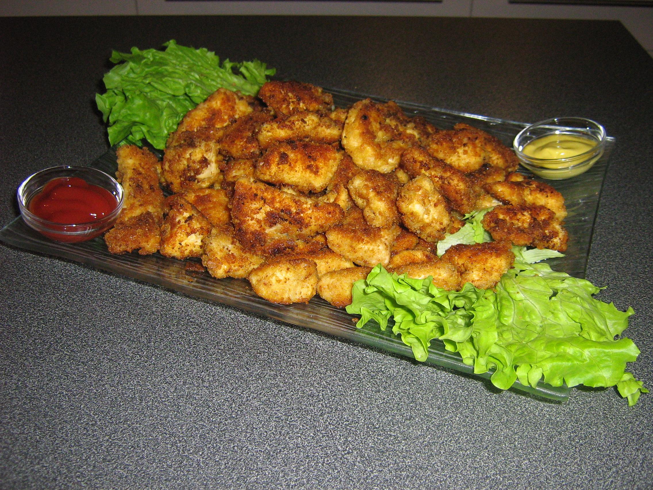 nuggets de poulet maison pour 4 personnes recettes elle table. Black Bedroom Furniture Sets. Home Design Ideas