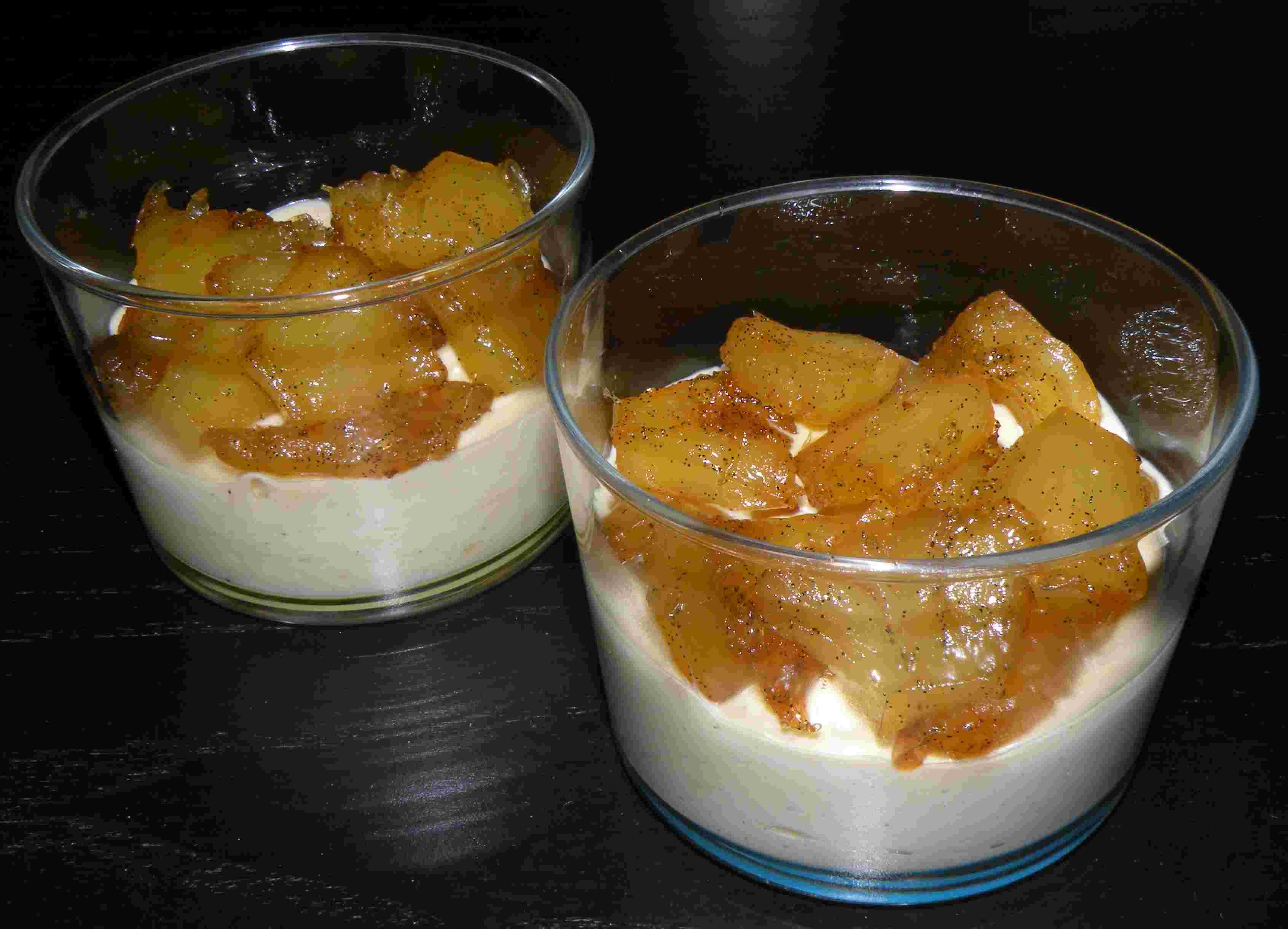 verrines d ananas confit miel vanille et mascarpone pour 6 personnes recettes elle table. Black Bedroom Furniture Sets. Home Design Ideas