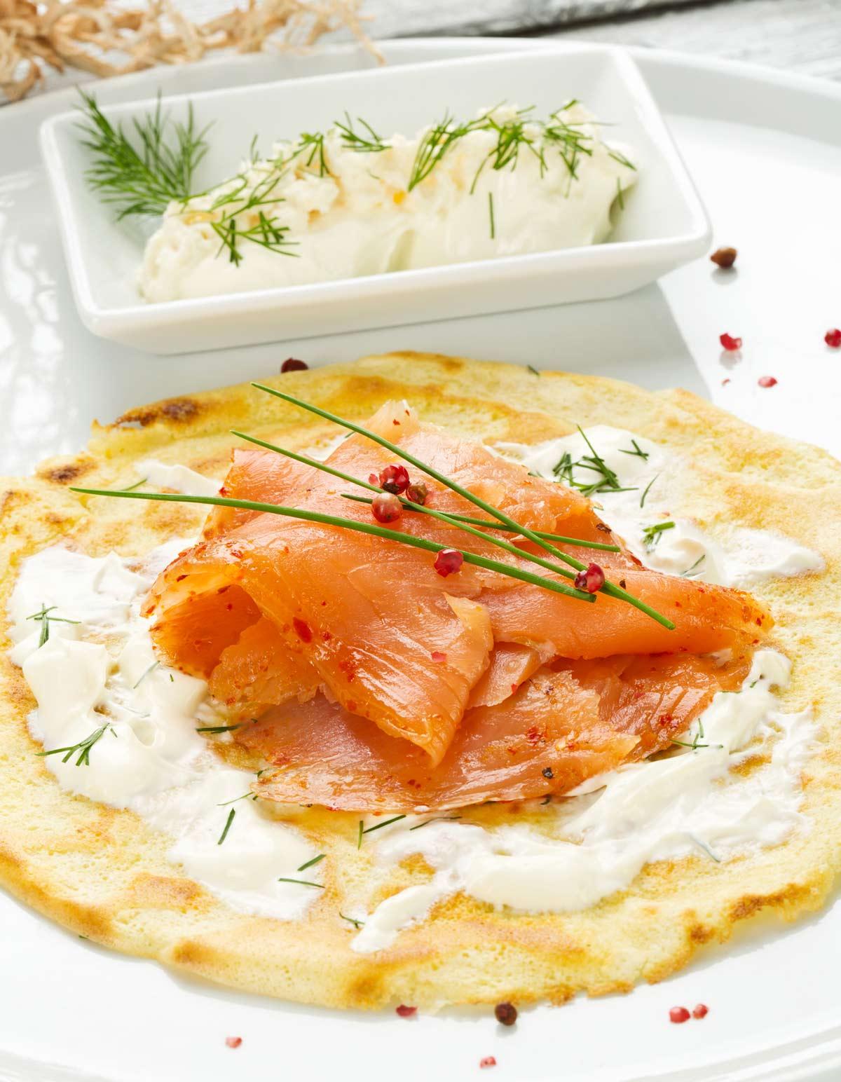 Crêpes de saumon fumé pour 4 personnes - Recettes Elle à Table