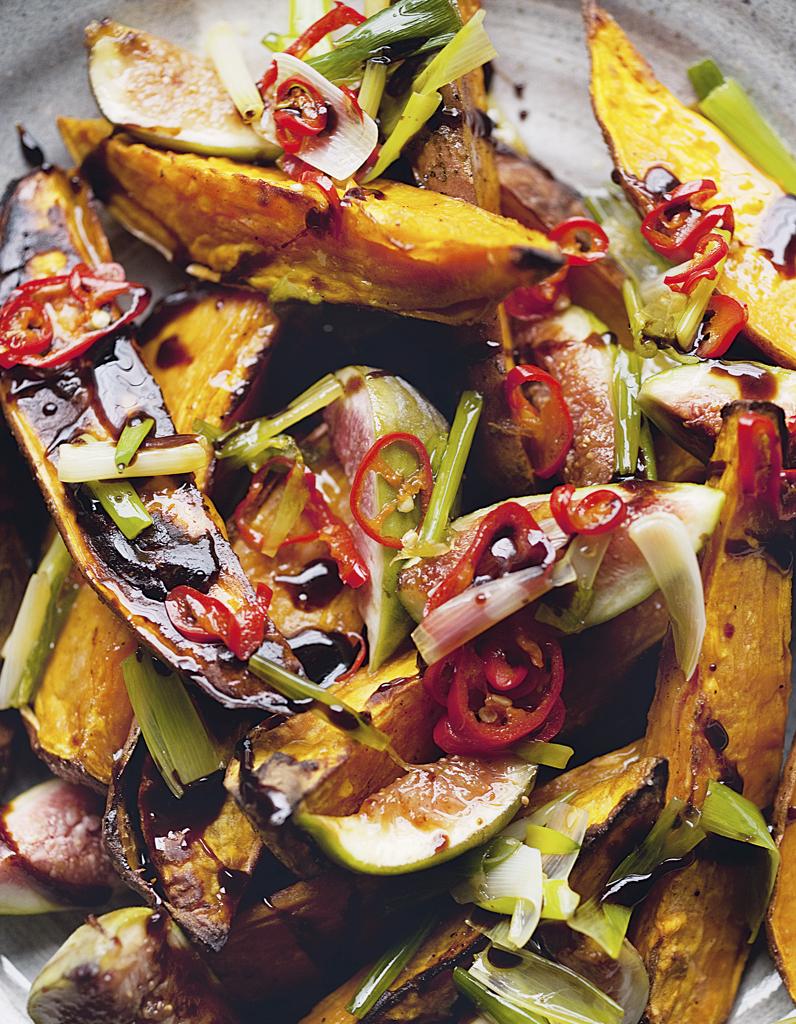 Patates douces r ties et figues fra ches pour 4 personnes recettes elle table - Cuisiner des figues fraiches ...