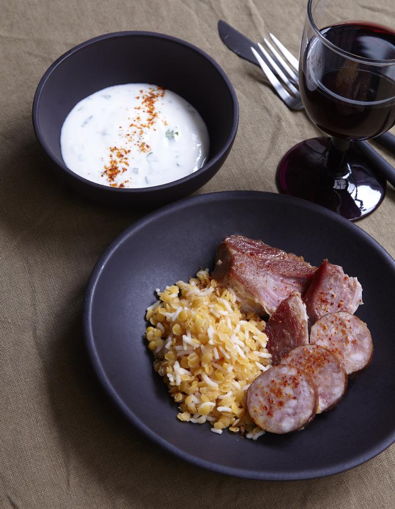 petit sal riz et lentilles corail pour 6 personnes recettes elle table. Black Bedroom Furniture Sets. Home Design Ideas