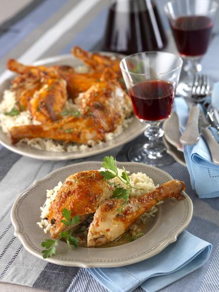 poulet aux c232pes recettes elle 224 table