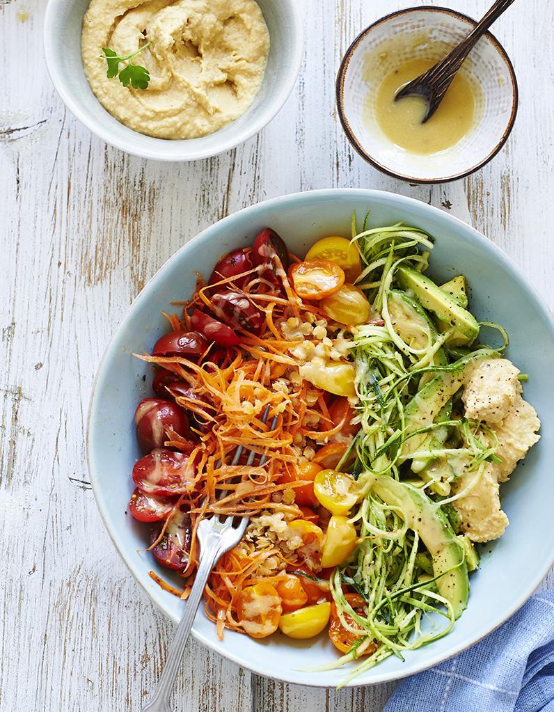 Salade arc en ciel de l gumes pour 2 personnes recettes elle table - Sites de recettes de cuisine ...